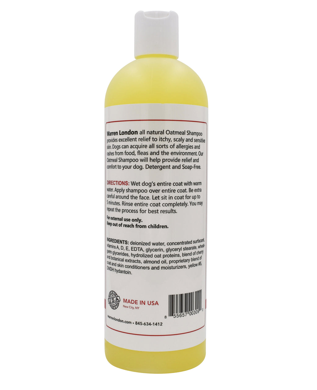 Warren London Oatmeal Shampoo for Itchy Skin & Coats