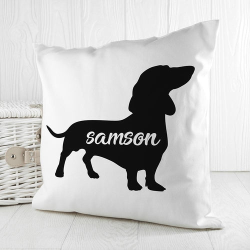 Dog Silhouette Pillow Cushion Cover (Customize)
