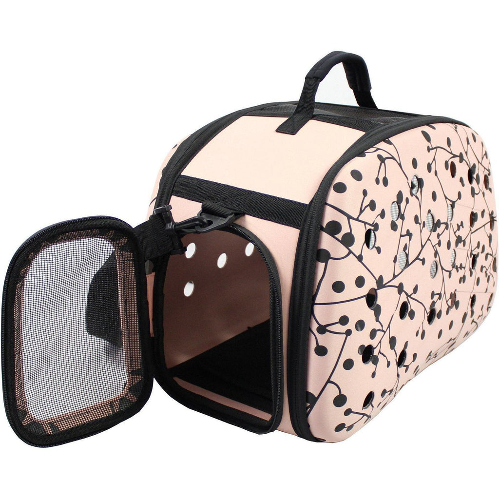 Narrow-Shelled Airline Approved Lightweight Collapsible Military-Grade Travel Pet Dog Bag Carrier Crate