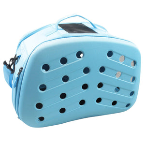 Blue Narrow-Shelled Airline Approved Perforated Lightweight Collapsible Military-Grade Fashion Travel Pet Dog Bag Carrier Crate