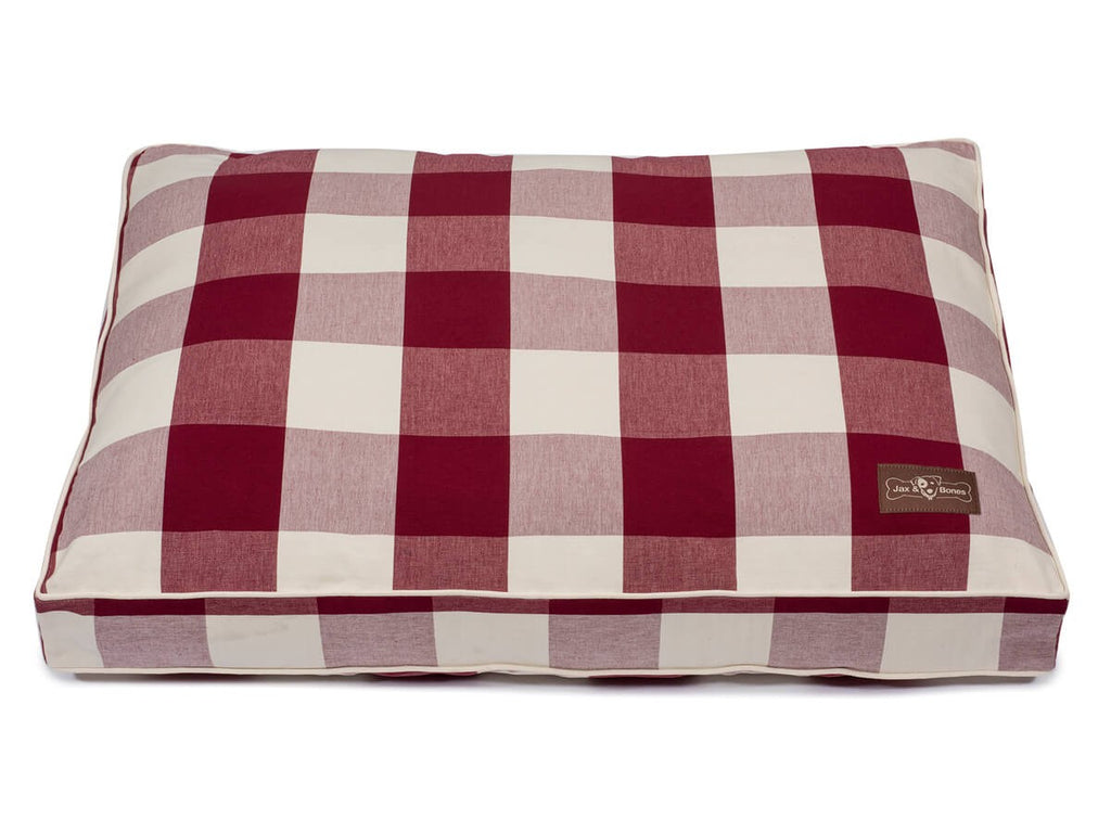 Buffalo Check Crimson Hypo-Allergenic Designer Pillow Pet Bed