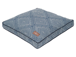 Gatsby Blue Hypo-Allergenic Premium Square Pillow Pet Bed