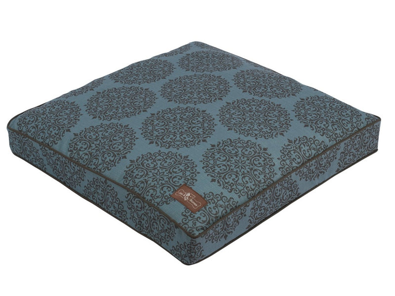 Milan Teal Allergy-Free Premium Square Pillow Pet Bed