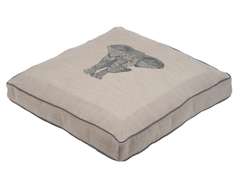 Tantor Thunder Allergy-Free Square Premium Pillow Dog Bed