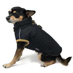 Runner Water-Resistant Warm-Insulated Winter Designer Harness Dog Coat Jacket