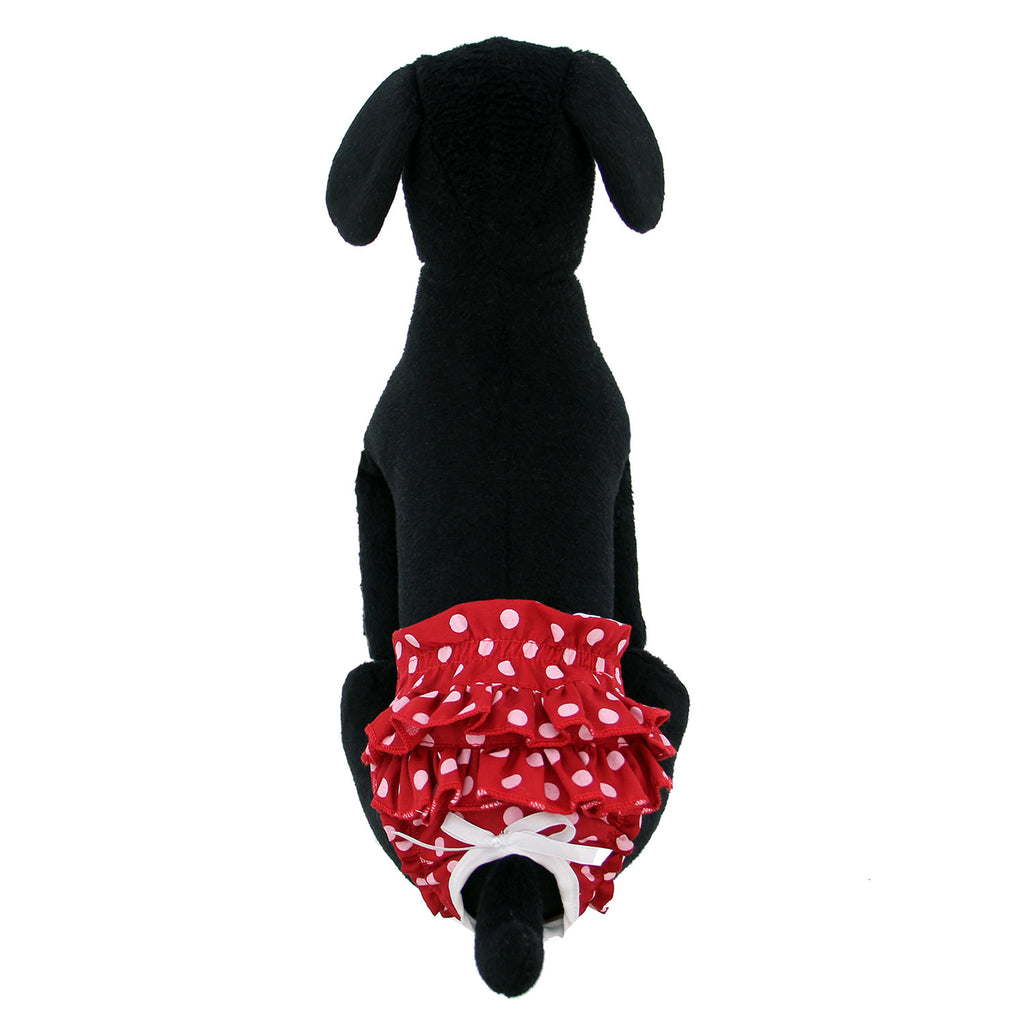 Ruffled Red Polka Dot Dog Panties
