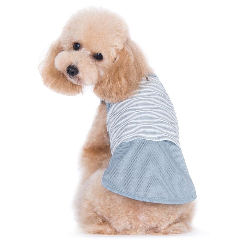 PP Geometric Grey Mesh Apparel Dog Jersey Tank Shirt