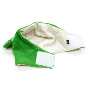 Royal Prince Green Frog with Crown Inspired Ultra-Soft Warm Designer Pet Dog Hat Costume