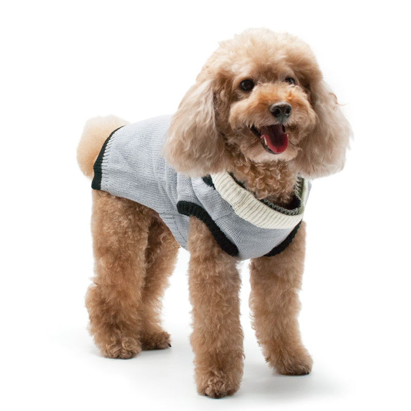 Professor Cardigan Designer Pet Dog Sweater Coat