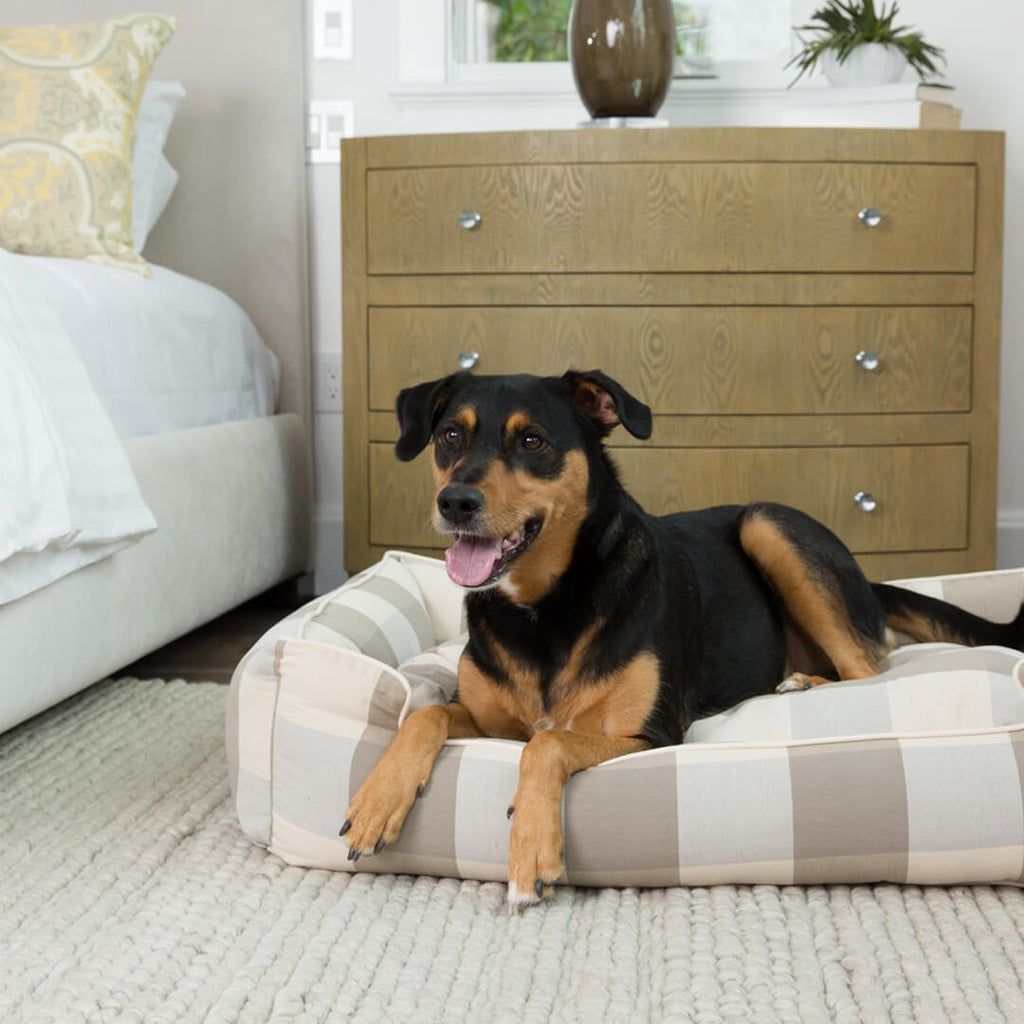 Buffalo Check Puddy Lounge Luxury Hypo-Allergenic Dog Bed