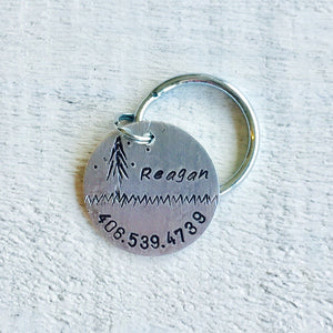 Reagan Artisan Handstamped Pet Dog ID Tag (Personalize)