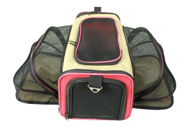 Roomeo Airline Approved Dual Expandable & Folding Travel Pet Dog Carrier