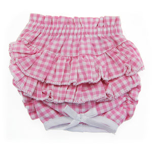 Ruffled Pink Gingham Dog Panties