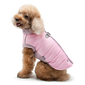Pink Runner Waterproof Warm Insulated Athletic Design Dog Coat Jacket