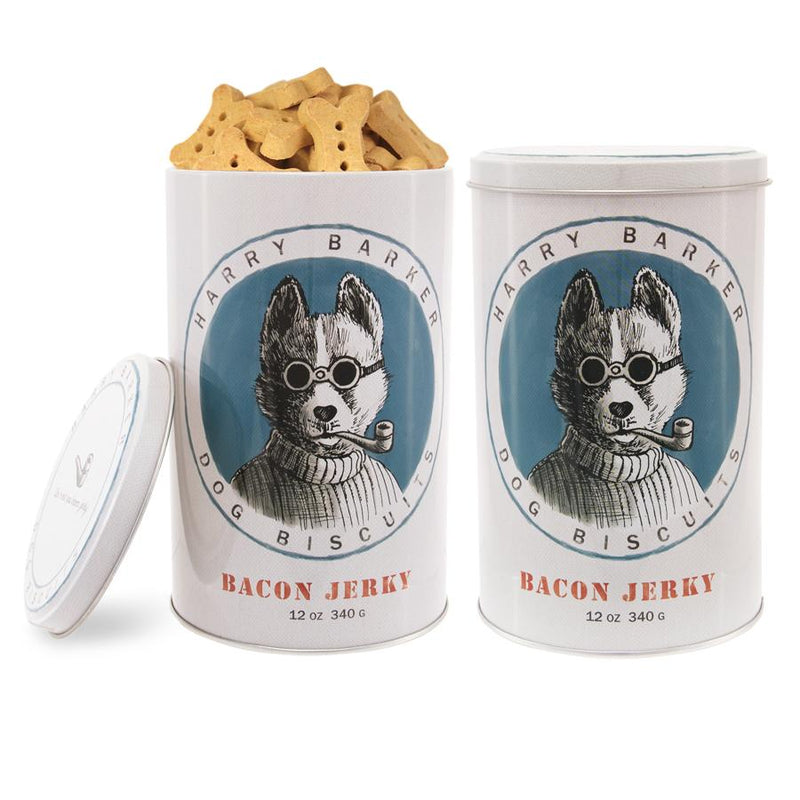 Salty Dog Tin with Bacon Dog Biscuits