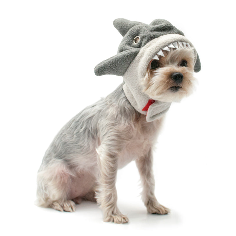 Shark Jaws with Fins and Teeth Ultra-Soft Designer Warm Pet Dog Hat Costume