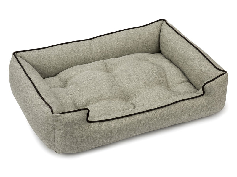 Boho Greystone Antibacterial Water/Stain & Mildew Resistant Sleeper Dog Bed