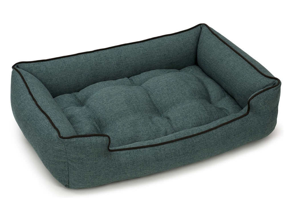 Boho Weave Jade Antibacterial Water/Stain & Mildew Resistant Sleeper Dog Bed