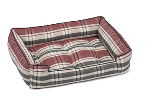 Kensington Garnet Plaid Luxury Hypo-Allergenic Joint Support Sleeper Dog Bed
