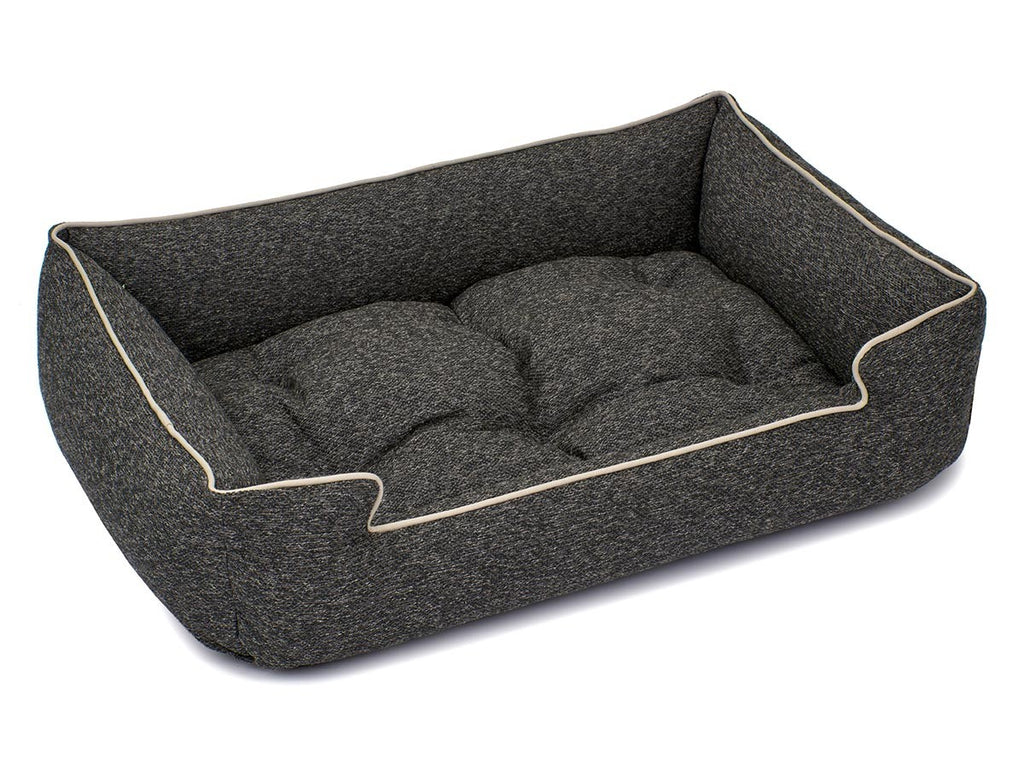 Loop Granite Crushed Velvet Hypo-Allergenic Joint Support Sleeper Dog Bed