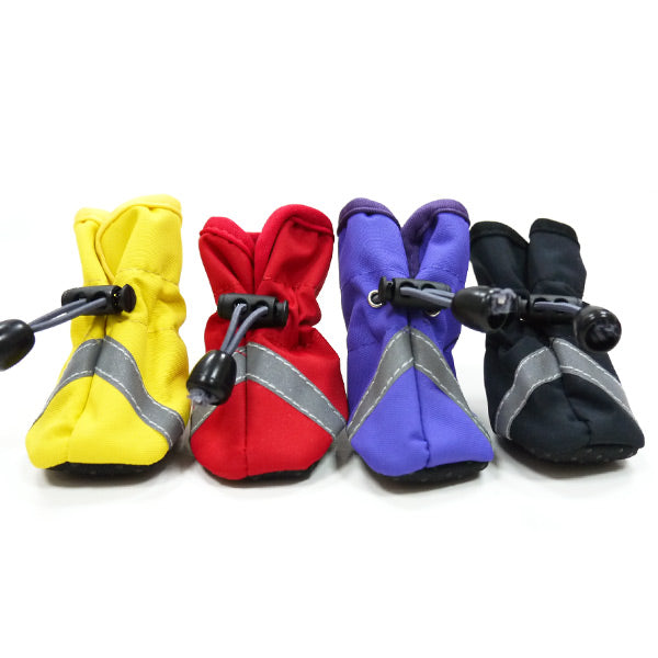 Slip On All Weather Paw Protecter Strapless Reflector Dog Shoe Booties