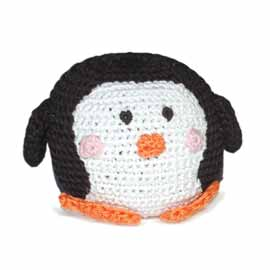Light Chewer Squeaky Penguin Ball Dog Toy
