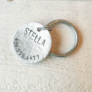 Stella Artisan Handstamped Pet Dog / Cat ID Tag (Personalize)