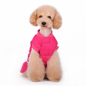 Sweet Pearls Puffy Ruffles Fleece-Lining Water-Resistant Warm Winter Designer Dog Coat