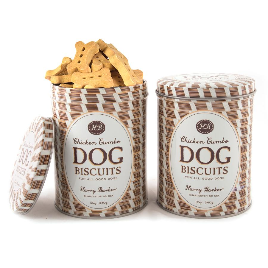 Sweetgrass Basket Tin with Dog Biscuit Treats