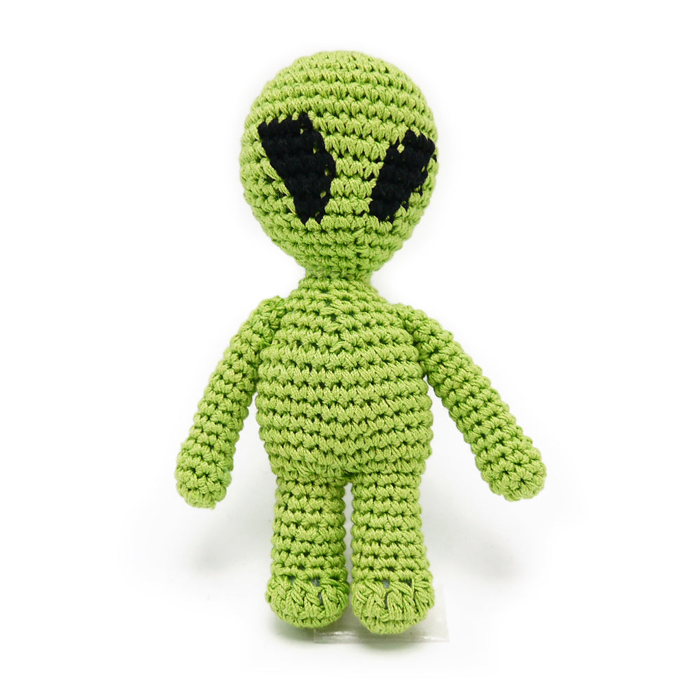 Light Chewer Squeaky Alien Dog Toy