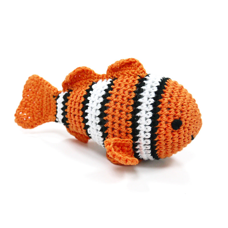 Light Chewer Squeaky Clown Fish Dog Toy