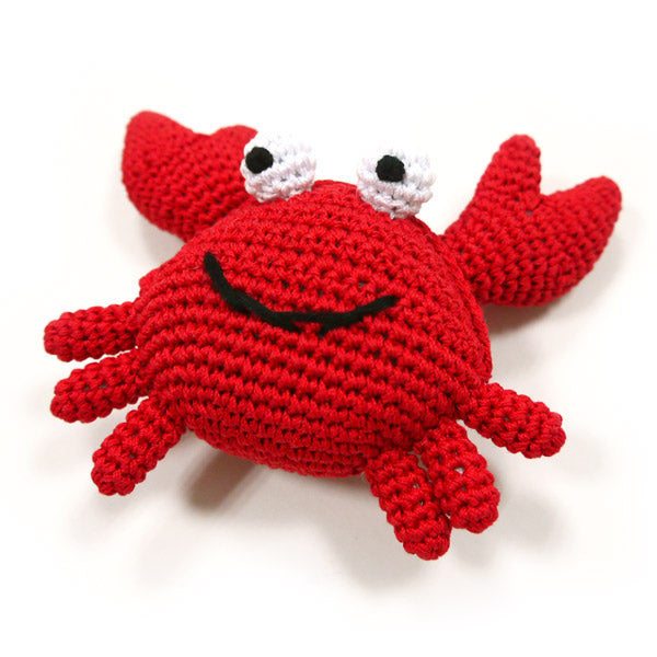 Light Chewer Squeaky Crab Dog Toy