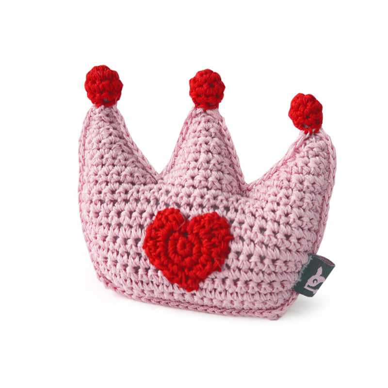 Light Chewer Squeaky Crown Dog Toy