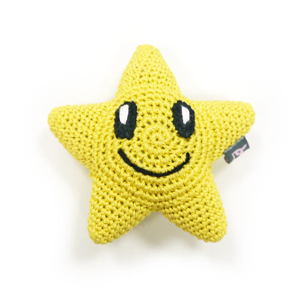 Light Chewer Squeaky Star Dog Toy