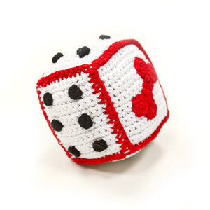 Light Chewer Squeaky Dice Dog Toy