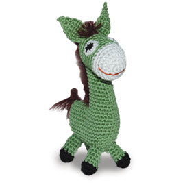 Light Chewer Squeaky Donkey Dog Toy