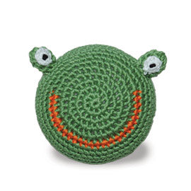 Light Chewer Squeaky Frog Ball Dog Toy