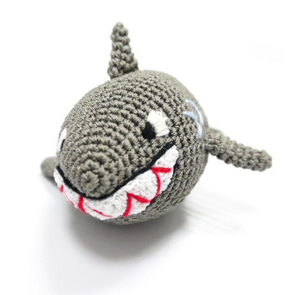 Light Chewer Squeaky Shark Dog Toy