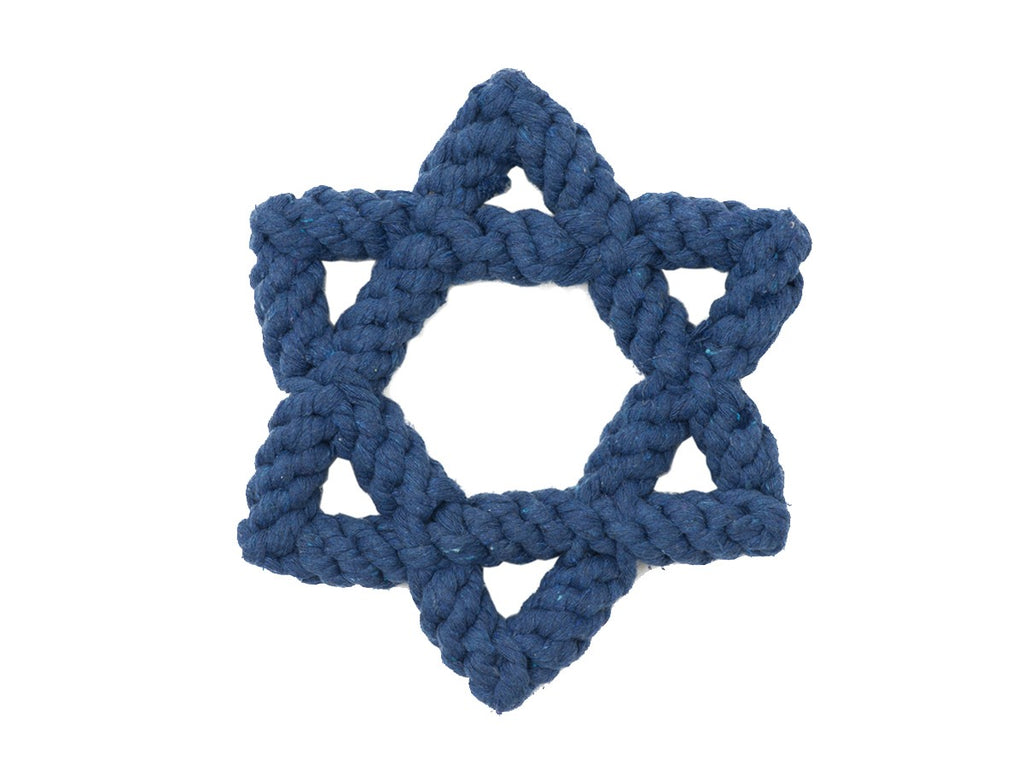 "Light Chewer Star of David 7"" Dog Rope Toy"