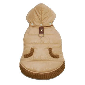 Urban Easy Water-Resistant Fleece Removable Hood Warm Designer Dog Coat Jacket