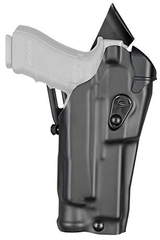 SAFARILAND 6390RDS ALS Mid-Ride  I Retention Duty Holster, Glock 17 w/Light, & Optic, Right Hand, STX Tactical Black