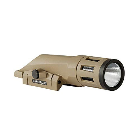 INFORCE WMLx 700 Lumens Gen 2 White Light with IR Flat Dark Earth Body WX-06-2 Weapon Mounted Light