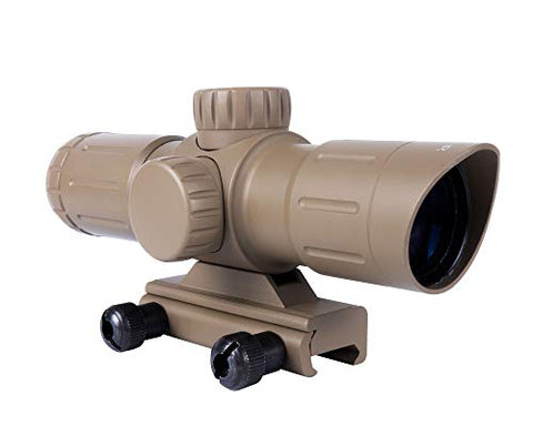 Monstrum 3x30 Ultra-Compact Rifle Scope with Illuminated Range Finder Reticle | Flat Dark Earth