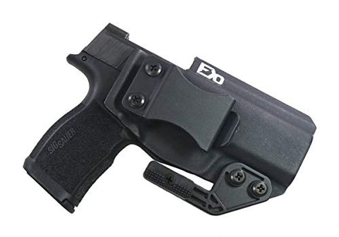 FDO Industries -Formerly Fierce Defender- IWB Kydex Holster Sig P365 XL Optic Cut -The Paladin Series -Made in USA- (Black)