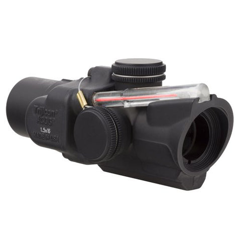 Trijicon TA44-C-400241 ACOG 1.5x16S Compact Low Heightx 40mm, Dual Illuminated Red Ring & 2 MOA Center Dot Reticle, Black