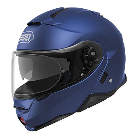 Shoei Solid Neotec 2 Modular Motorcycle Helmet - Matte Blue Metallic/Medium