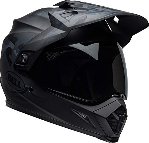 Bell MX-9 Adventure MIPS Full-Face Motorcycle Helmet (Stealth Matte Black Camo, Medium)