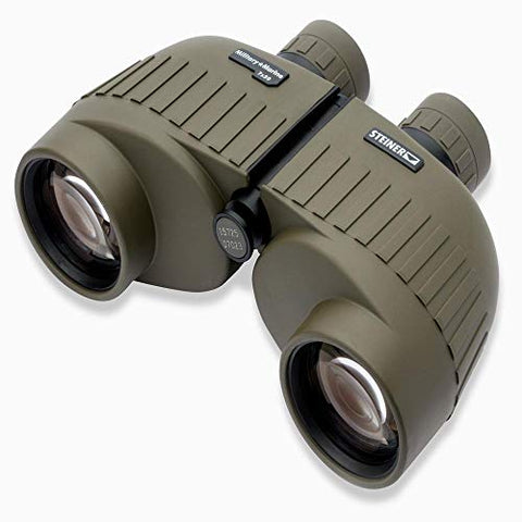 Steiner Military-Marine Series Binoculars, Lightweight Tactical Precision Optics for Any Situation, Waterproof, Green, 7x50