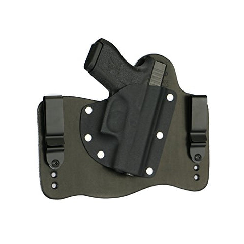 FoxX Holsters New Glock 43 9mm in The Waist Band Hybrid Holster (Black)