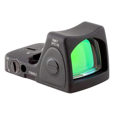 Trijicon RM07-C-700679 RMR Type 2 Adjustable LED Sight, 6.5 MOA Red Dot Reticle, Black